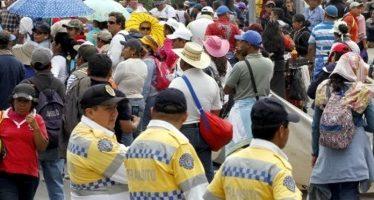 Cierran vialidades en delegación Cuauhtémoc por manifestantes
