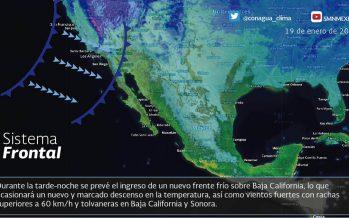 Frente frío 24 ocasionara descenso de la temperatura