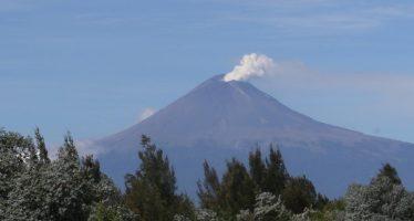 Popocatépetl disminuyó su actividad en las últimas horas