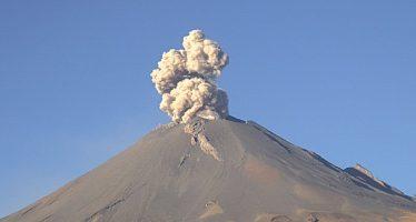 Popocatépetl presenta 341 exhalaciones de baja intensidad