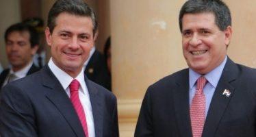 Presidente de Paraguay recibe a Enrique Peña Nieto