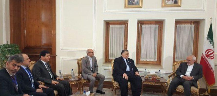 Presidente del Parlamento sirio se reúne con Zarif y Velayati