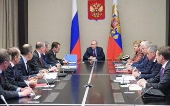 Putin se reúne con el consejo ruso de seguridad