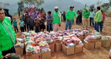 Sigue el apoyo con alimentos, abrigo y salud en Chalchihuitán