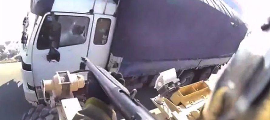 Vídeo parece mostrar soldado de EU disparando contra camión civil