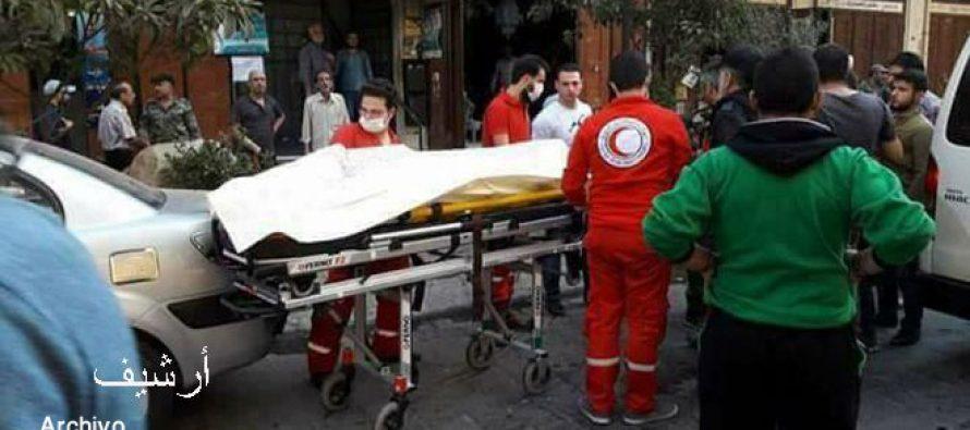 Terroristas atacan Damasco; hieren a una mujer.