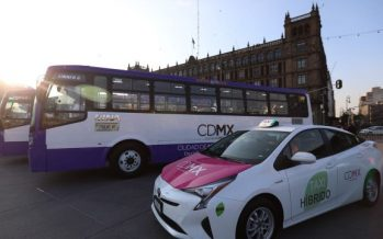 Arrancan 120 nuevos autobuses y 100 taxis híbridos