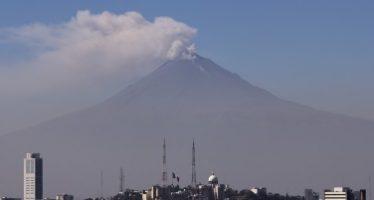 Popocatépetl presenta 38 exhalaciones de baja intensidad