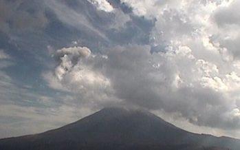 Popocatépetl presenta 51 exhalaciones de baja intensidad