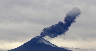 Volcán Popocatépetl presenta 51 exhalaciones de baja intensidad