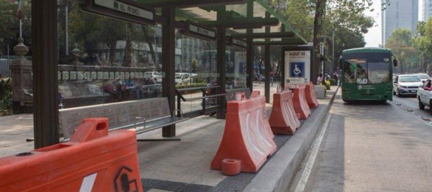 Reducción de carril en Reforma por Línea 7 del Metrobús