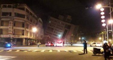 Sismo de 6.4 grados en Taiwán provoca daños en casas