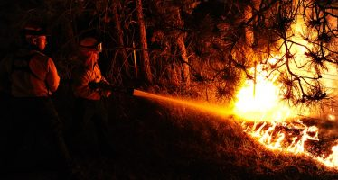 Sofocan incendio forestal en Tepoztlán, Morelos