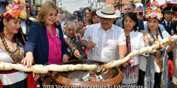 Inicia la fiesta de la Flor Más Bella del Ejido 2018 en Xochimilco. Foto Eder Zárate