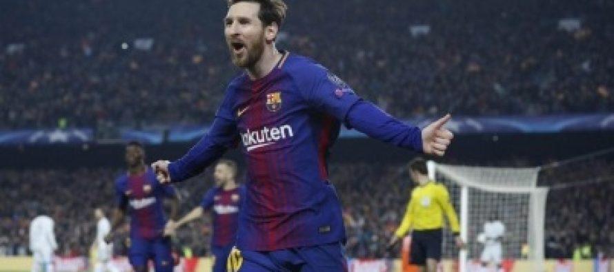 Messi llega a 100 goles de Champions, pone al Barça en cuartos de final