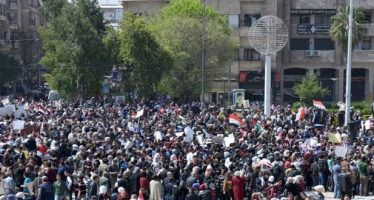 Masiva protesta en Alepo contra invasiones de EEUU y Turquía