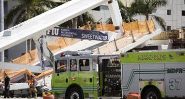 Cuatro fallecidos por colapso de puente en Miami
