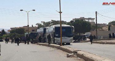 Continúa salida de terroristas y familiares del Qalamoun Oriental