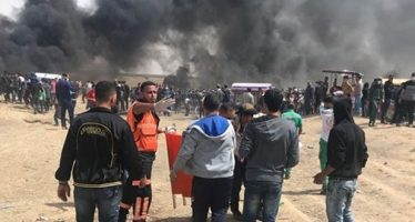 Ataques israelíes dejan 363 heridos en la Franja de Gaza
