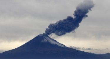Actividad del Popocatépetl continúa sin cambios relevantes