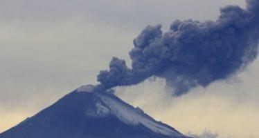 Actividad del Popocatépetl, sin cambios importantes