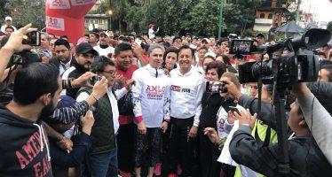 Inicia campaña Cuitláhuac García al gobierno de Veracruz con carrera