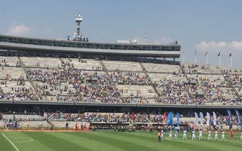 Policías garantizan seguridad en encuentro de fútbol Pumas-Puebla
