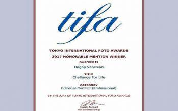 Jacob Wanisian gana medalla en Concurso Fotográfico Internacional