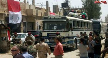 Autobuses preparados para evacuar terroristas del sur