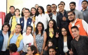 Alejandra Barrales presenta su agenda a favor de los jóvenes