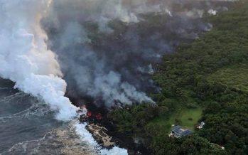 Alerta en Hawái por lava del Kilauea en el Océano Pacífico