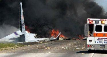 Mueren nueve puertorriqueños en accidente de avión militar
