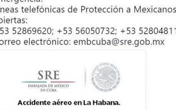 Embajada de México en Cuba activa protocolo de emergencia