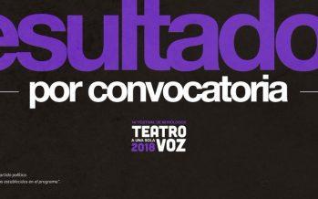 La Coordinación Nacional de Teatro anuncia los resultados de la convocatoria para la 14ª edición de Teatro a una sola voz, Festival de Monólogos