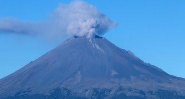 Popocatépetl emite 70 exhalaciones de baja intensidad