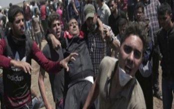 Represión israelí deja 60 muertos y más de 2 mil 700 heridos