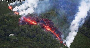 Hawái: Transmiten en vivo cómo lanza bombas volcánicas el Kilauea