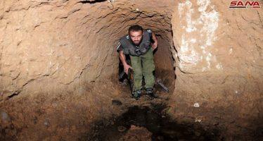 Ejército halla redes de túneles y sustancias explosivas en Siria