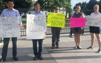 """Estadounidenses se manifiestan en contra de la """"Cero Tolerancia"""""""