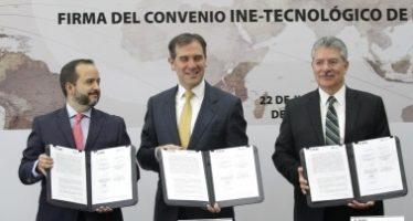 INE y Tec de Mty firman convenio para conteo de votos del extranjero