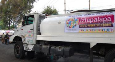 Restablecen suministro de agua en parte de Iztapalapa