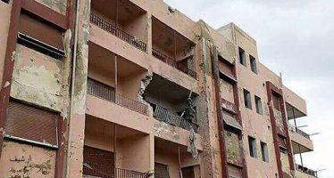 Daños materiales en ataques terroristas en Quneitra, Siria