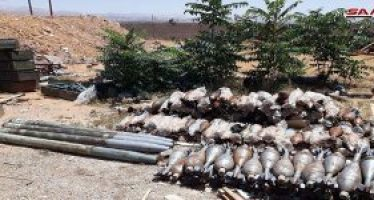 Incautan armas y municiones de terroristas en el norte de Homs