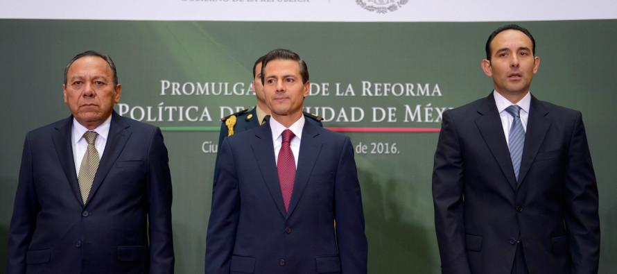 Ciudad de México ya es una entidad federativa; Peña Nieto promulga su reforma política