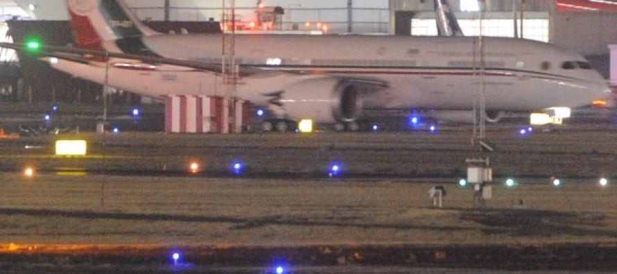 Arribó a la Ciudad de México el nuevo avión presidencial