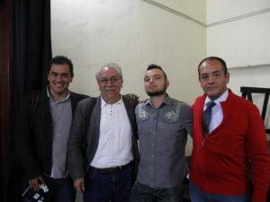 Juan Terrazas, Agustín Sánchez, Israel Caleón y Edmundo Cruz