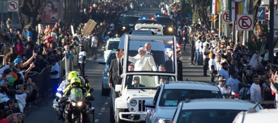 Se reabrirán las vialidades hasta las 20:15 horas por la visita papal