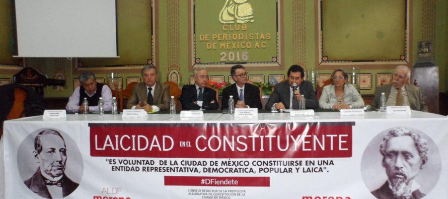 El tema del Estado laico fue expuesto por Morena en el Club de Periodistas de México