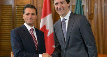 Peña Nieto y Trudeau tratan avances en acuerdos comerciales