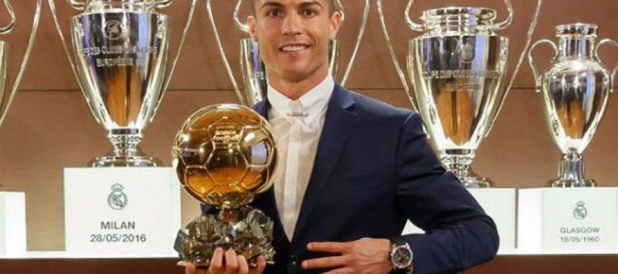 Cristiano Ronaldo gana su cuarto Balón de Oro